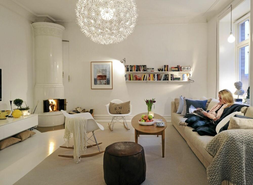 GAMMELT OG NYTT: Alle boligene til Alvhem mäkleri er gamle leiligheter i tre bestemte deler av byen. Dette bærer både leilighetene og interiøret preg av. Nye og moderne innslag skaper tøffe kontraster.