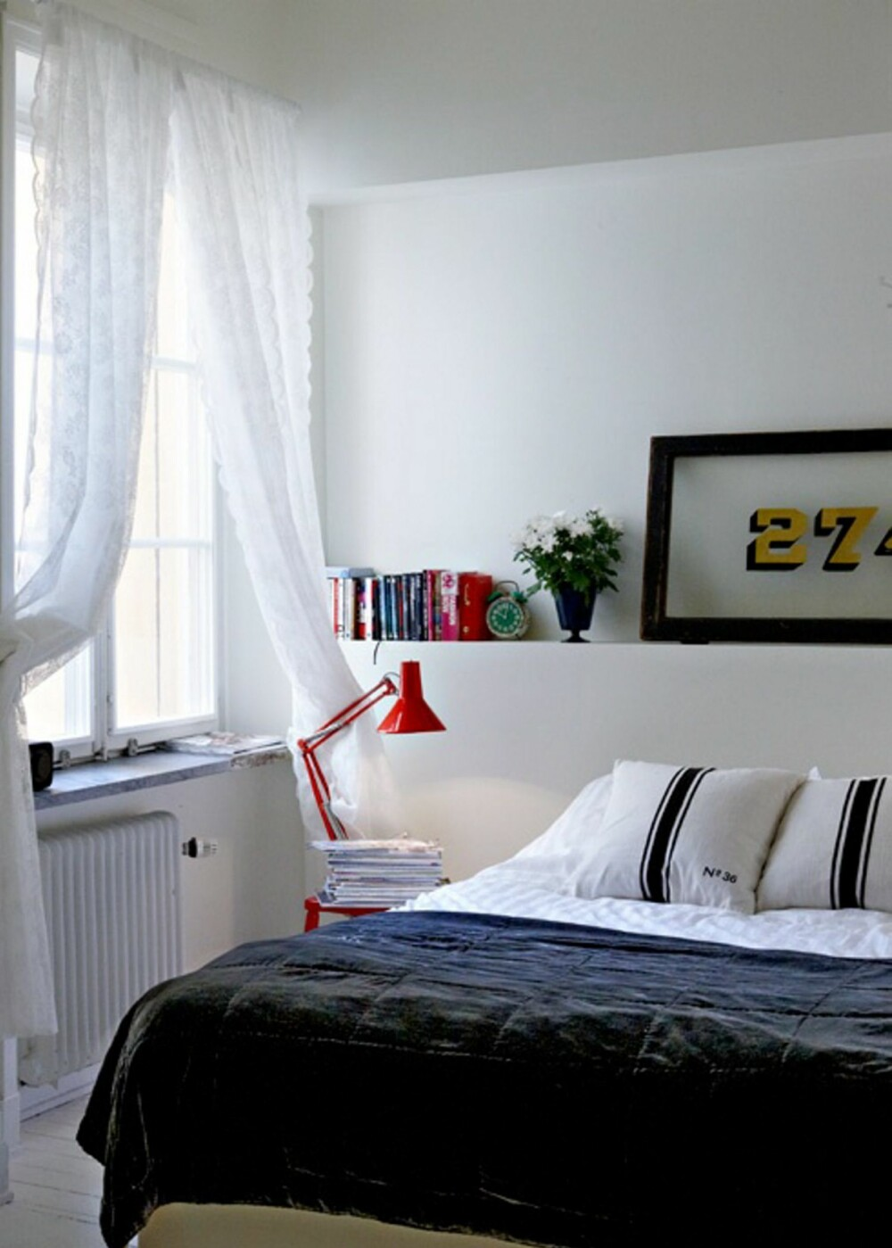 SOVEROM: Paret har endret på hele romløsningen til leiligheten. Soverommet var tidligere et kjøkken.