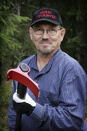 OPPFINNEREN: Heikki Kärnä var lei av tung og farlig vedhugging.