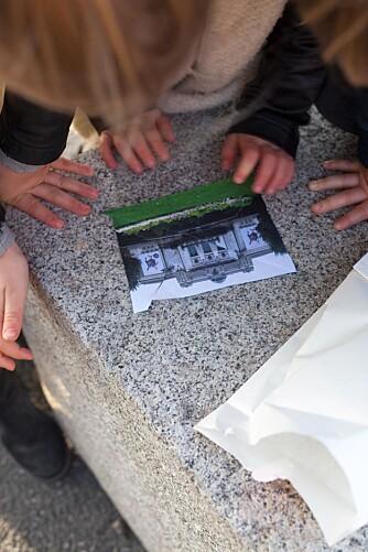 PUSLESPILLBITER:I konvolutten ligger det et bilde klippet opp i så mange biter som det er barn med på turen.