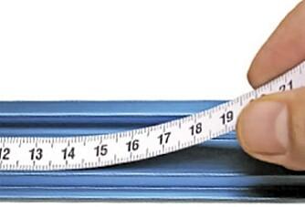 MÅLBÅND: Kleb et målbånd rett på anlegget