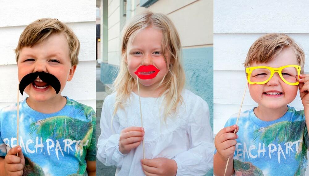 BAKGRUNN, PLASSERING OG REKVISITA: Du trenger ikke være proff fotograf for å ta gode bilder av barna. Du kommer langt med en rolig bakgrunn, glade barn og noen morsomme rekvisitter.