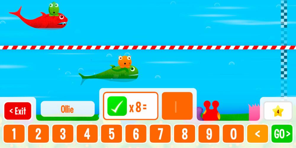 KREATIVT: I Squeebles Maths Race kan barna spille mot hverandre uansett mattenivå.