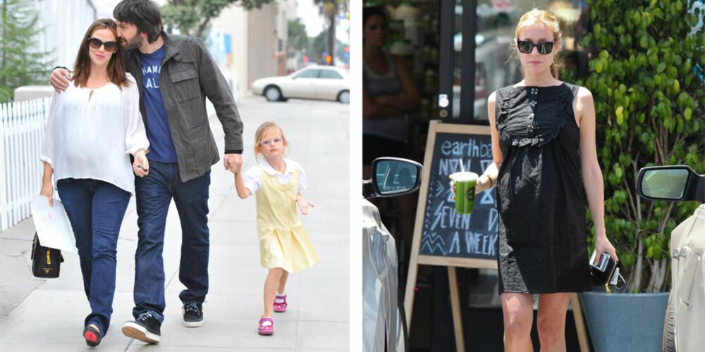 JA, TAKK: Jennifer Garner tror hun elsker sjokolade og iskrem uansett om hun er gravid eller ikke - men synes det var fint å ha babymagen å skylde på når lystene meldte seg. Kristin Cavallari derimot innrømmer å ha fråtset i taco.