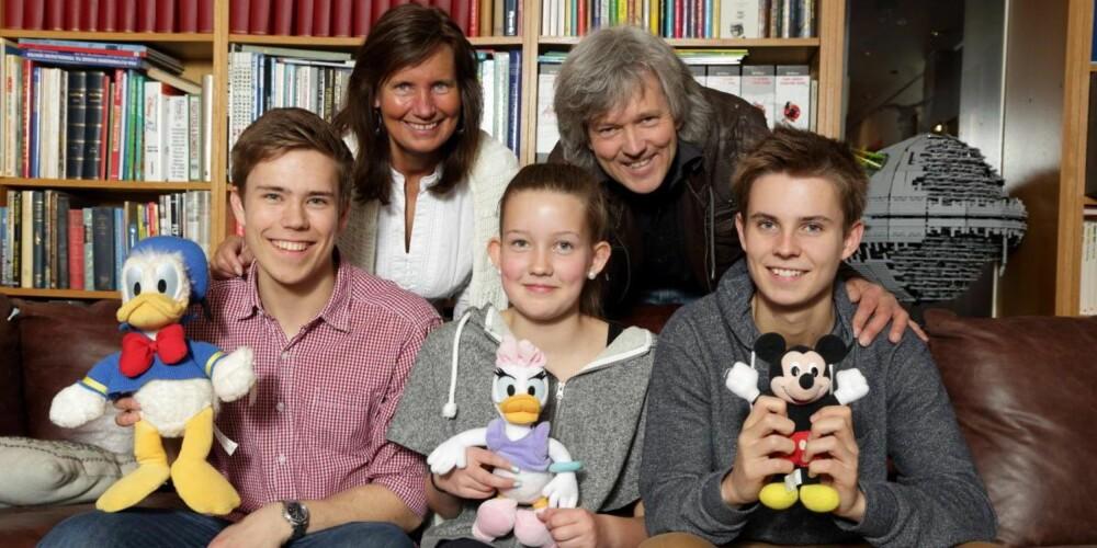 FLOTT TREKLØVER: Tove Nyhus og Dag Tveter valgte å kalle opp barna etter tre populære Andeby-beboere, Kim Donald, Celine Dolly og Scott Mickey.