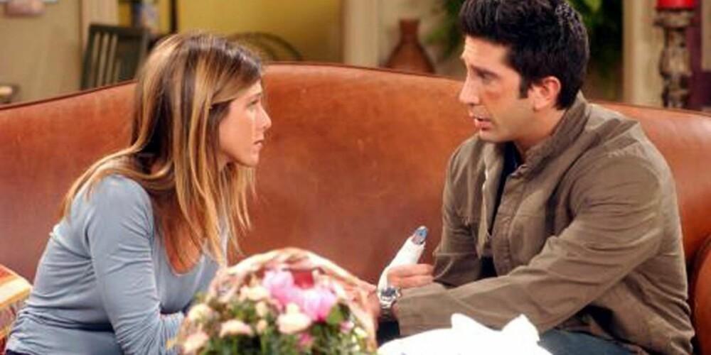 FRIENDS: Da Ross og Rachel fikk datteren Emma, ekspolderte navnet i Norge på få uker.