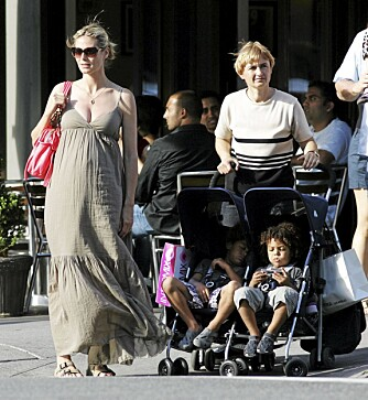 ALDRI STILLE: Heidi Klum satt aldri med beina på bordet etter sine tre fødsler, men kombinerte den aktive livsstilen med sunn mat og trening.