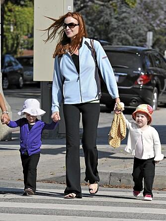 HEKTISK: Å bli tvillingmor i en alder av 45 år krever sitt. For Marcia Cross raste kiloene av fortere enn hun hadde trodd.