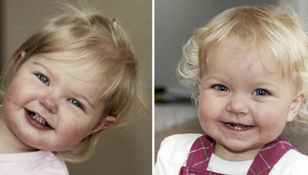 SMÅ HJERTEKNUSERE: Mystisk mange babyer i Møre og Romsdal ble født med hjertefeil i forfjor. Elin (t.v.) og Celine er to av dem som fikk en dramatisk start på livet.