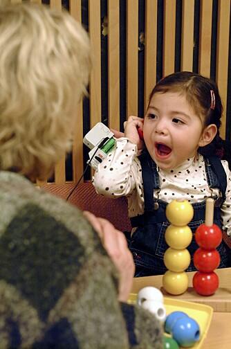 DØV: Foreldrene syntes Maria hadde dårlig språkutvikling da hun var 8 måneder. Det viste seg at hun var døv.