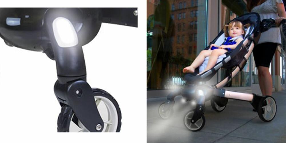 ORBIT: Denne barnevognen er utstyrt med lys.