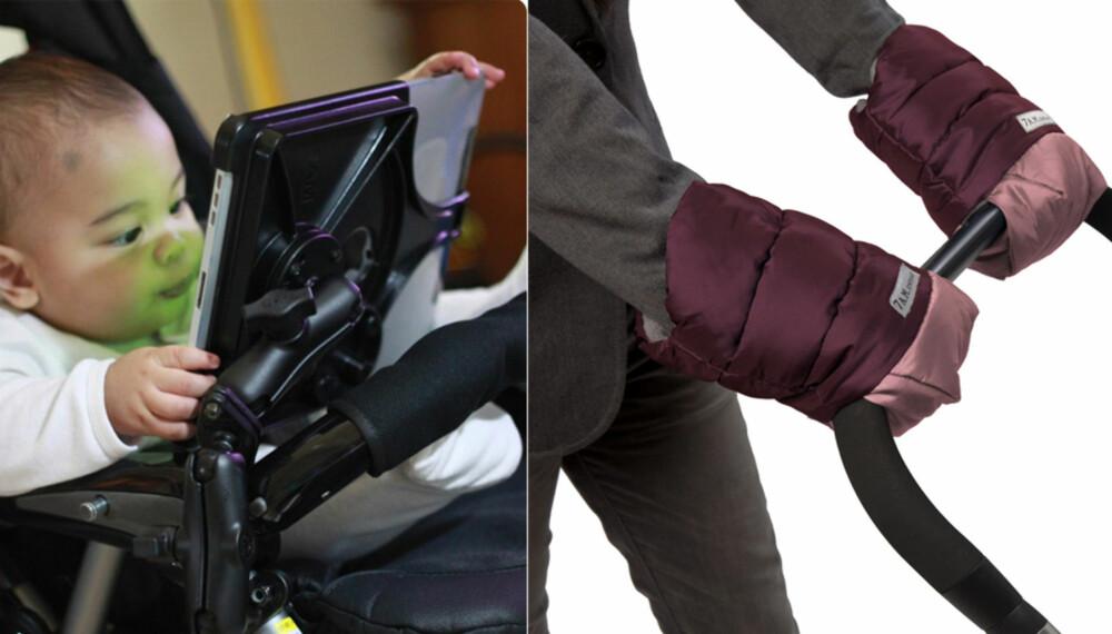 DET LILLE EKSTRA: iPad-holder eller egne vogn-votter til kalde trilleturer. Slik får du tak i det kuleste tilbehøret til barnevognen.