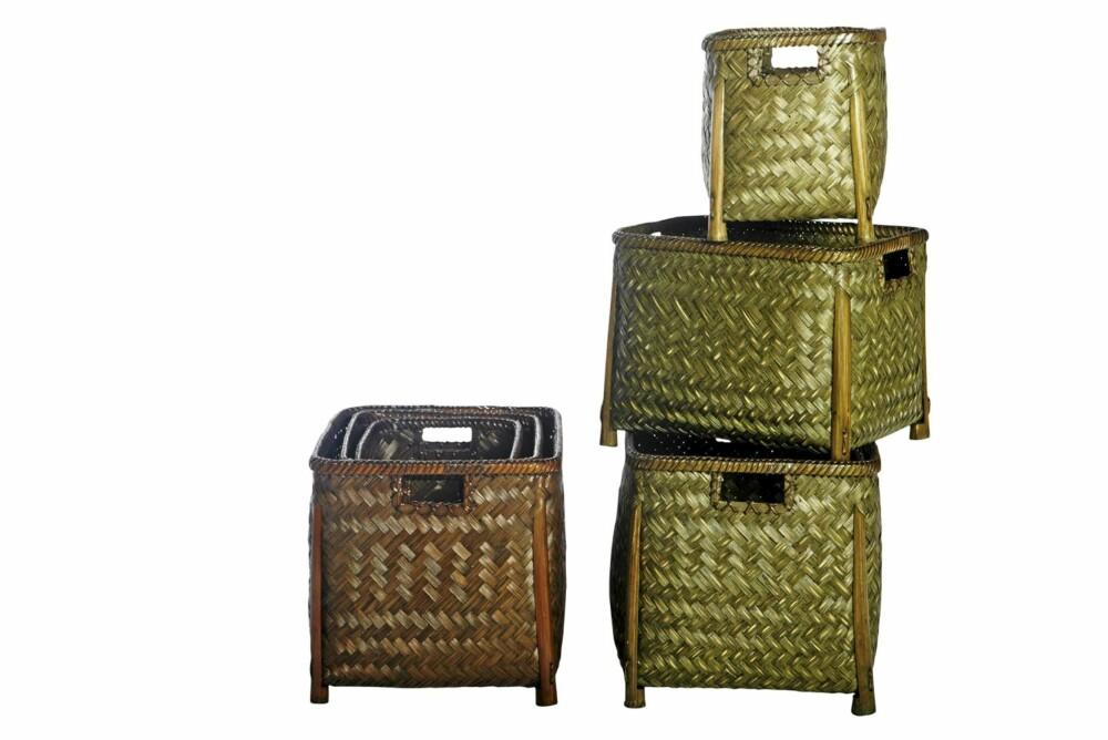 OPPBEVARING: Tøffe oppbevaringsbokser er både dekorativt og praktisk