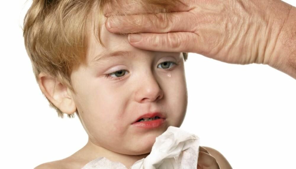 SYKT BARN: Sjekk når barnet kan sendes i barnehagen ved hjelp av denne guiden.