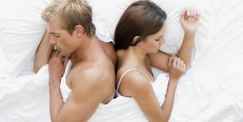 RUMPE MOT RUMPE: Kun rumpa berører kjæresten. En sovestilling som gir deg frihet, men som likevel kan oppleves som intim.