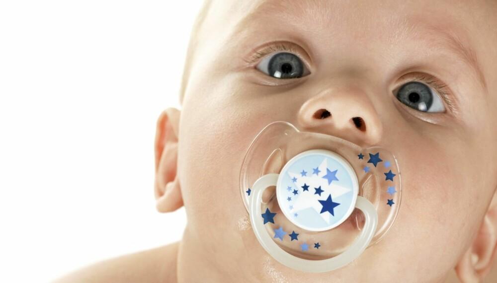 TRØST OG TRYGGHET: Veldig mange barn finner trygghet i smokken
