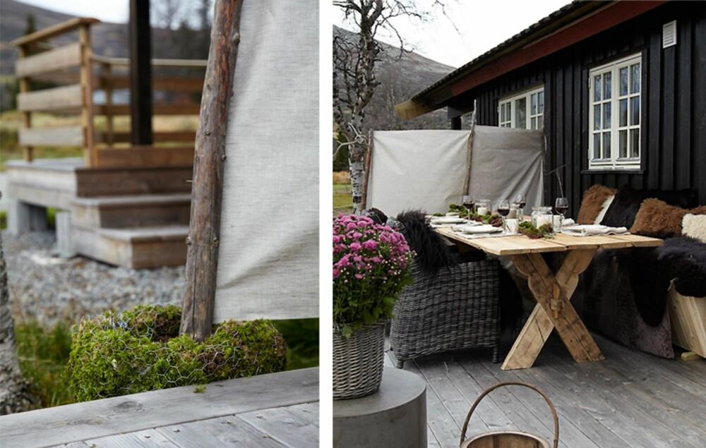 LEVEGG: Beskytt uteplassen for vind med en praktisk levegg.