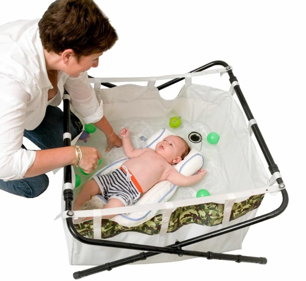 BIDABAD: Sammenleggbart badekar til barn.