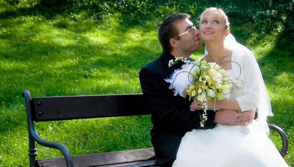 DRØMMEBRYLLUP: Britiske par må utsette drømmebryllupet på grunn av finanskrisa.