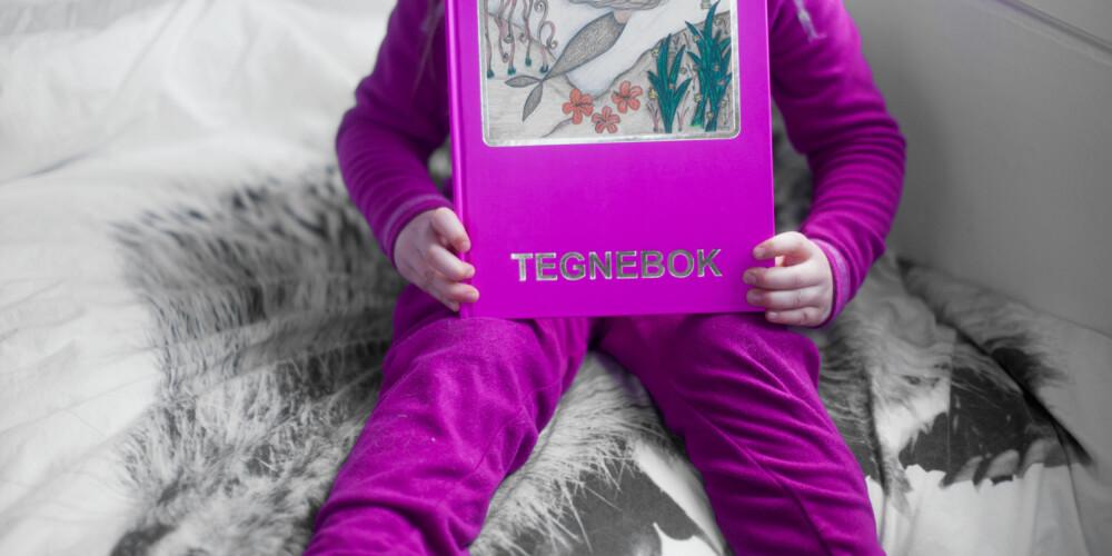 TEGNEBOK: En tegnebok kan gjøre susen etter man har vært på museum. Her kan barna tenge sine egne opplevelser fra besøket. FOTO: Per Olav Sølvberg