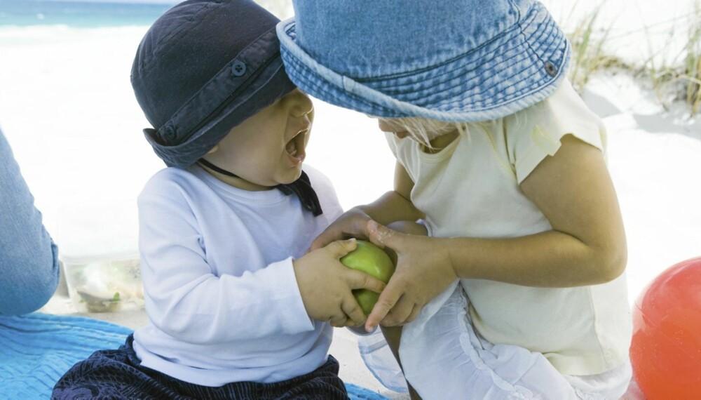 KRANGLER OM EIENDELER: Barn havner ofte i konflikter som handler om eiendeler.