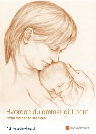 "UTSTYR TIL AMMING: Det anbefales at den vordende mor leser heftet ""hvordan du ammer ditt barn"" fra Helsedirektoratet før ammingen starter."