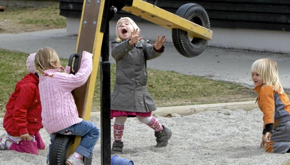 SATSER PÅ BARNEHAGE: Kunnskapsminister lover at satsningen på barnehagene skal fortsette de neste fire årene.
