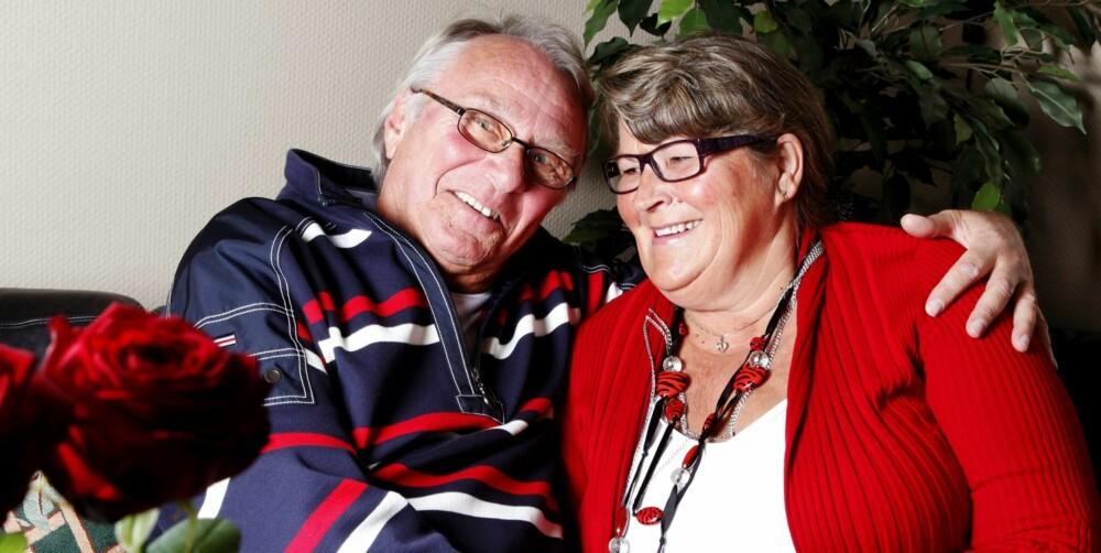 LIVET I GAVE: Juel Andersen (72) og samboeren Liv Stigersand kan ikke få rost behandlingen i Tyskland nok. - Det reddet livet og livskvaliteten min, mener Juel.