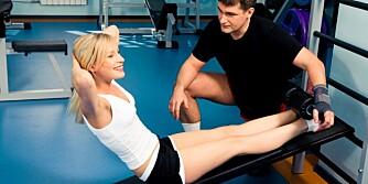 MOTIVERENDE OMGIVELSER: God ventilasjon og belysning er viktig for å trives i treningsrommet.