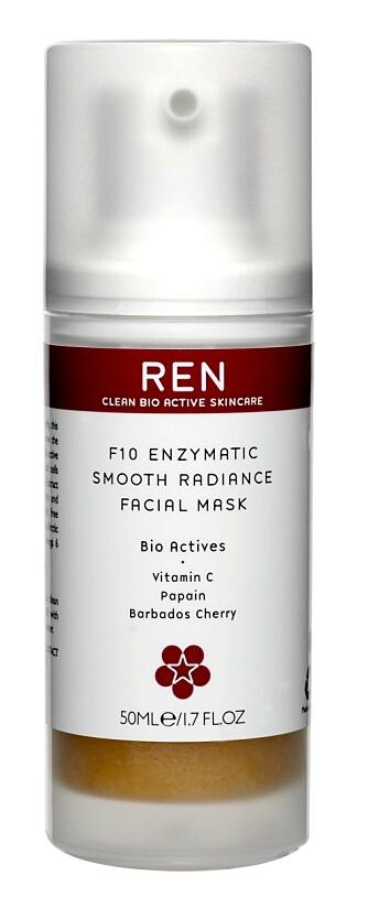 EKSFOLIERER: Ansiktmasken fra REN eksfolierer og øker cellefornyingen i huden.