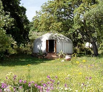 LUKSUSØKO: I Andalucía ligger det økologiske Hoopoe Yurt Hotel.