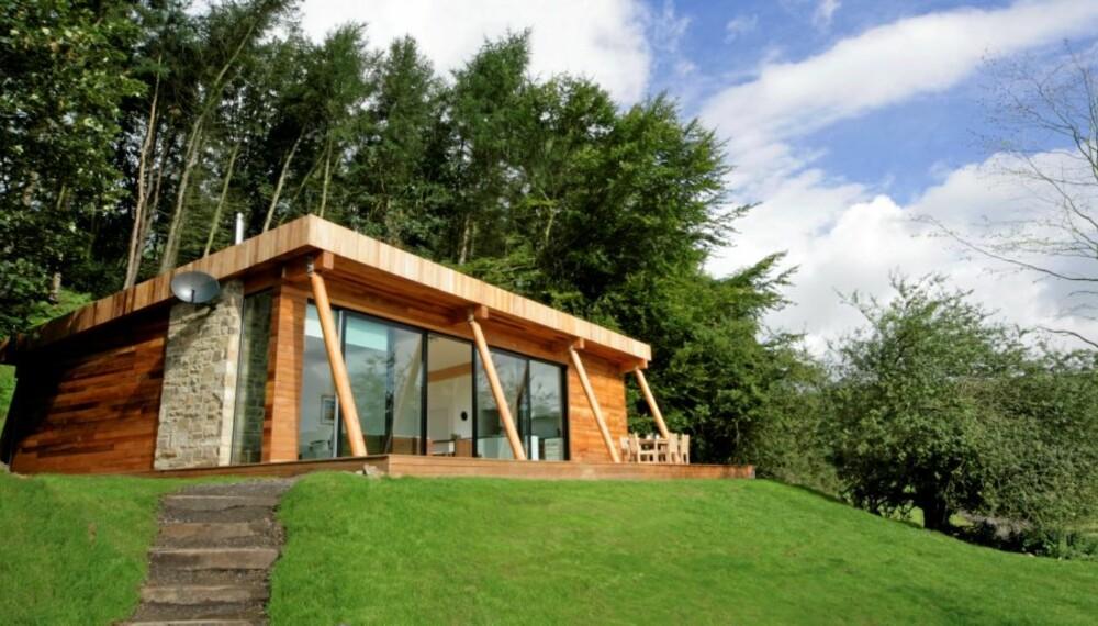 ØKOLOGISK FERIE: Finn ut hvor du kan feriere grønt i Norge og i utlandet. Dette er et Eco lodge i Yorkshire, England.