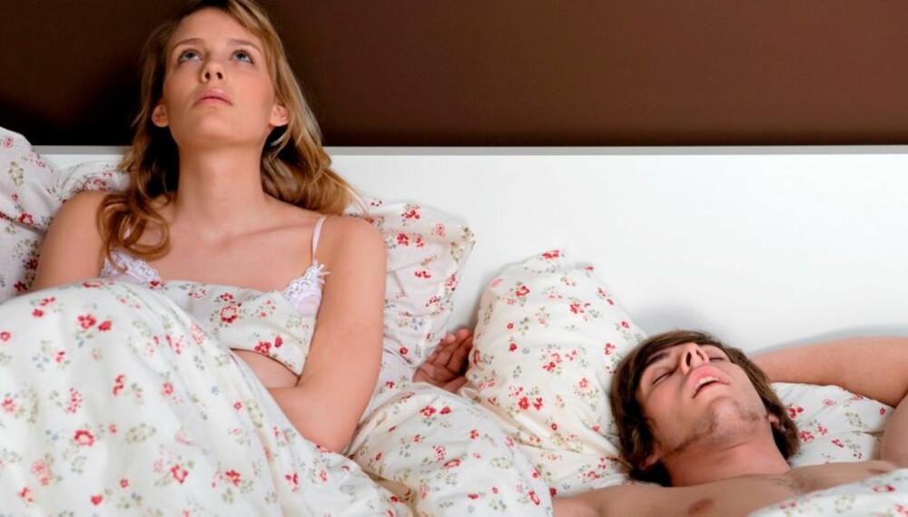 SNORKING OG SØVNLØSHET: Hvem har ikke ligget våken på grunn av høylydt prusting fra en snorker.