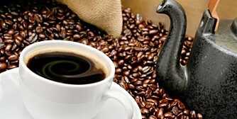 Kaffen smaker best på bar.