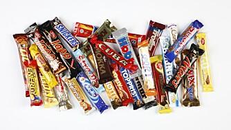 TEST AV SMÅSJOKOLADE: Disse sjokoladene inneholder færrest og mest kalorier. FOTO: Petter Berg