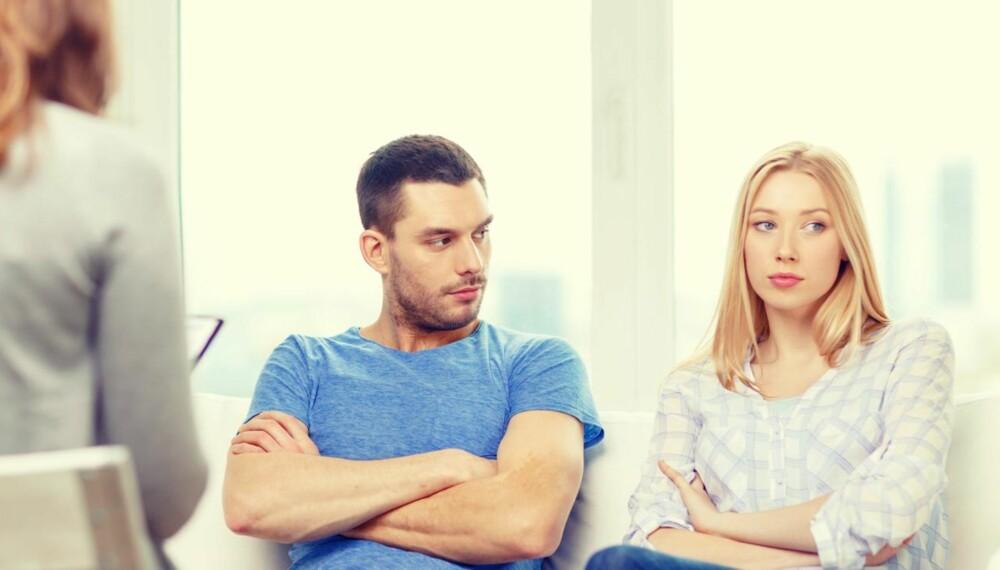TRENGER DERE PARTERAPI?: En terapeut kan hjelpe paret til å se hva som ligger bak kommunikasjonen. ILLUSTRASJONSFOTO: Colourbox