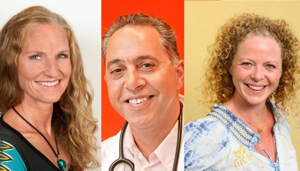 NED I VEKT: Kostholdsekspertene Gunn Helene Arsky, Fedon Lindberg og Jeanette Roede gir deg sine beste tips for å gå ned i vekt.