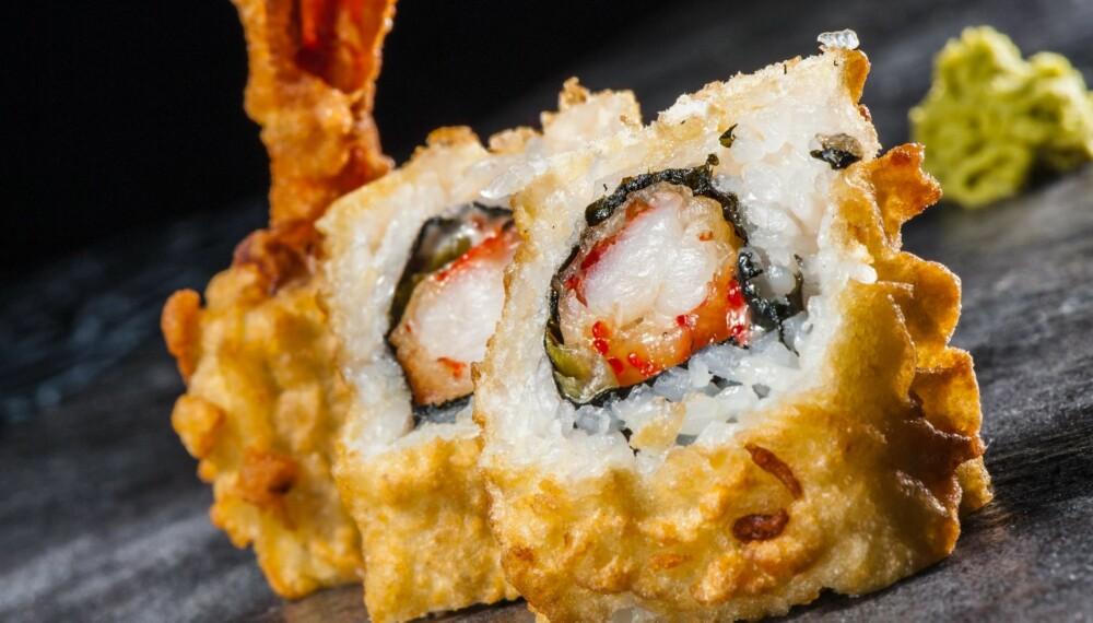 TEMPURA: Er sushi sunt hvis du alltid spiser fritert tempura?