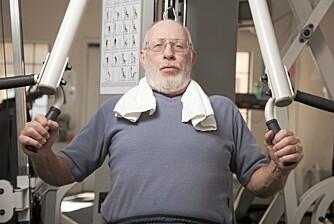 BEGYNNE Å TRENE: Det er aldri for seint å legge om livsstilen. Trening og sunn kost er og blir nøkkelen til et lengre liv.