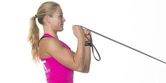 MUSKLER: Du kan få perfekte armer med bare ti minutters trening et par ganger i uken.