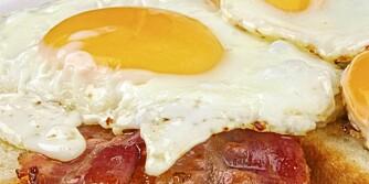 FROKOST: Egg og bacon er lavkarbo-mat.