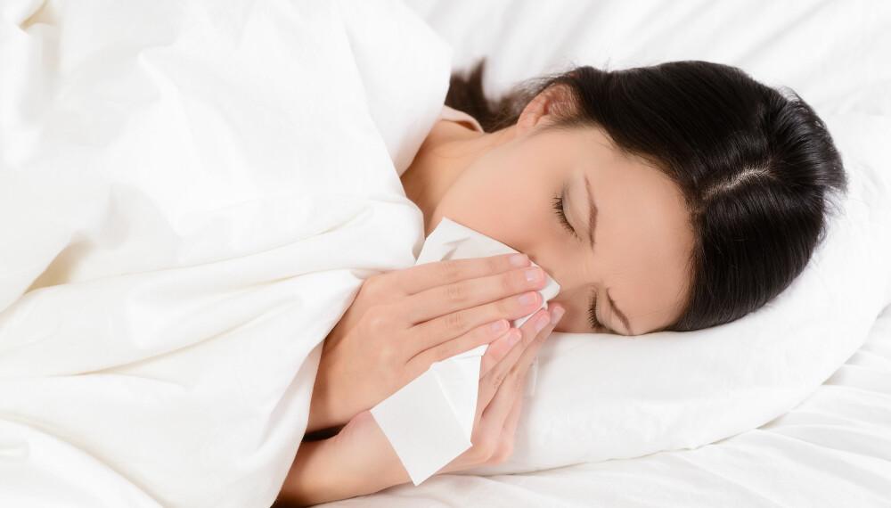 INFLUENSA: Når du får influensa, må du regne med å bli slått helt ut noen dager.