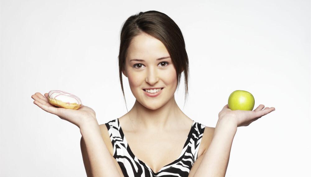 DÅRLIG VILJESTYRKE: Du kan skylde på genene neste gang du velger kake i stedet for frukt.
