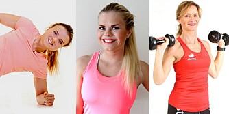 TRENINGSVIDEO: Katrine Karlsrud, Julianne Nilsen og Christine Thune viser deg hvordan du enkelt kan bli sterk hjemme.