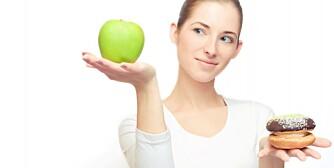 VANSKELIGE VALG: Å holde på vekta er mye vanskeligere enn å gå ned i vekt. Men ikke gi opp når du først har kommet så langt.