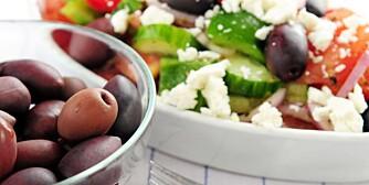 MIDDELHAVSKOSTHOLD: Oliven, salat og fetaost