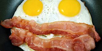 ATKINS: Med lavkarbodietten kan du spise så mye egg og bacon som du vil, men ikke med brød til.