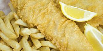 BLODTYPE O: Glem fish & chips - torsken kan du spise, men ikke potetene.