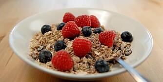 MUSLI:  Usukret frokostblanding gir jevn blodsukkerstigning