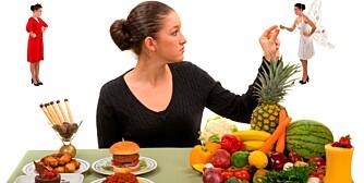 UTFORDRINGER: Et sunt kosthold virker, men det er vanskelig å holde  livsstilendringene og vekten.